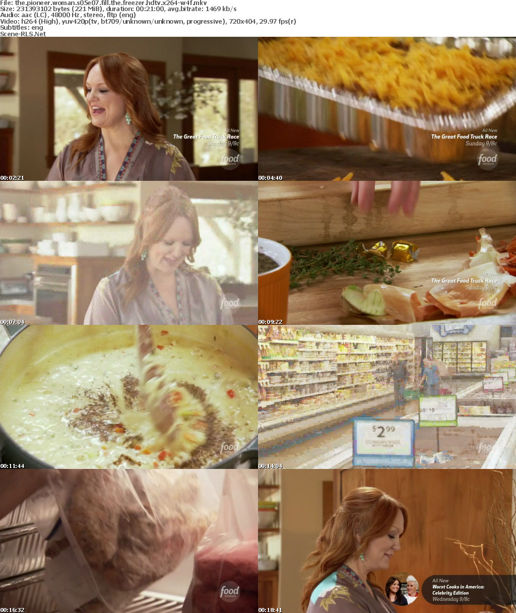 Ree Drummond's filling up the freezer with family favorites that are great standbys. She's making Sour Cream Noodle Bake, Chicken Pot Pies with delicious Thyme Pastry and Creamy Carrot Soup.