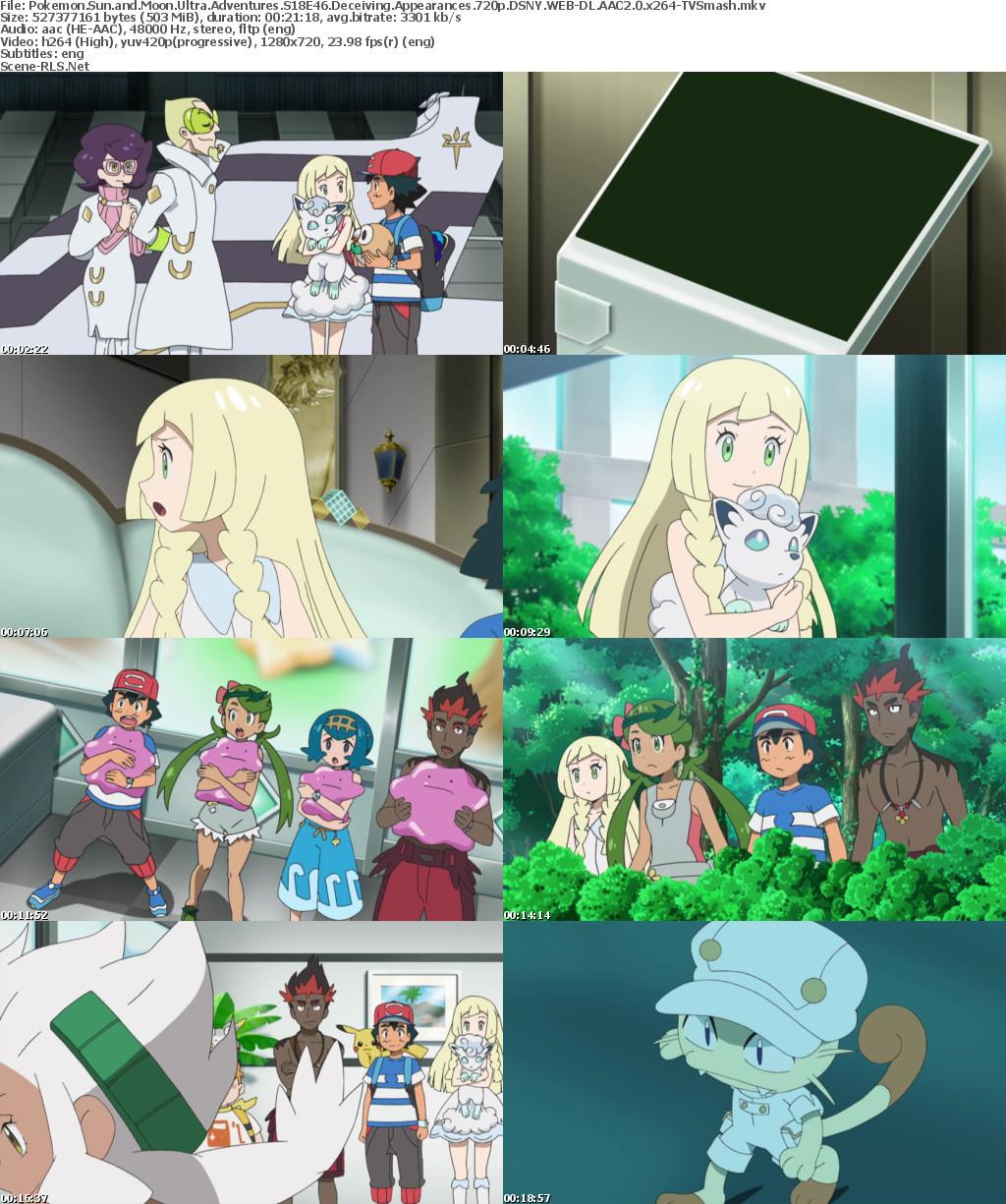 Pokemon Sun and Moon Ultra Adventures S18E46 Deceiving ...