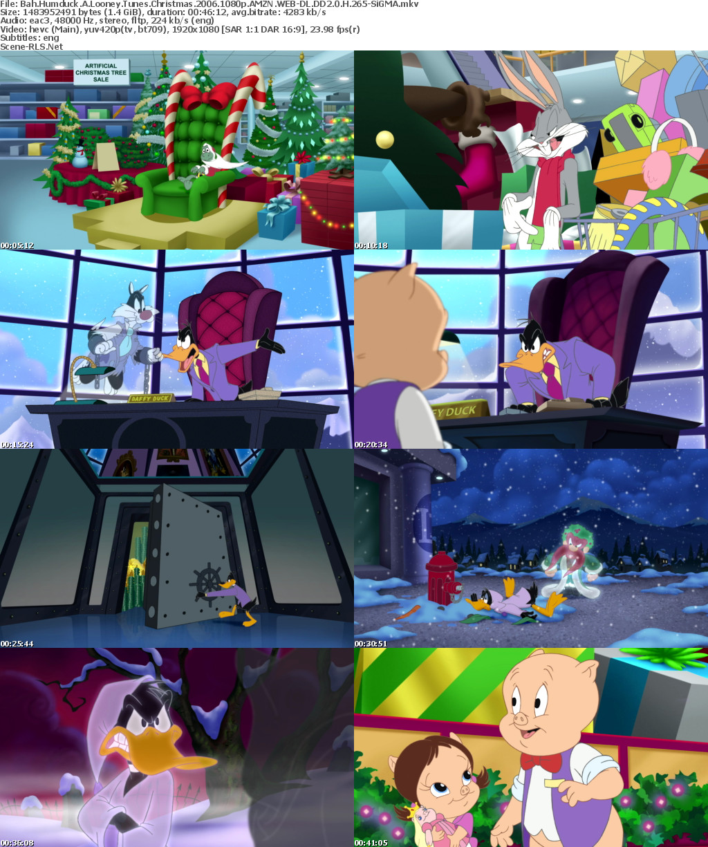 Bah Humduck A Looney Tunes Christmas.Bah Scene Release