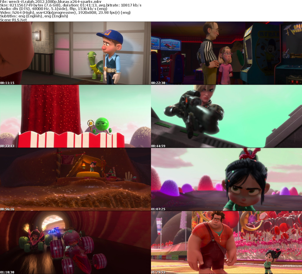 Download Wreck-It Ralph (2012) Full Animation Bluray 480p – 720p – 1080p – 3D Version