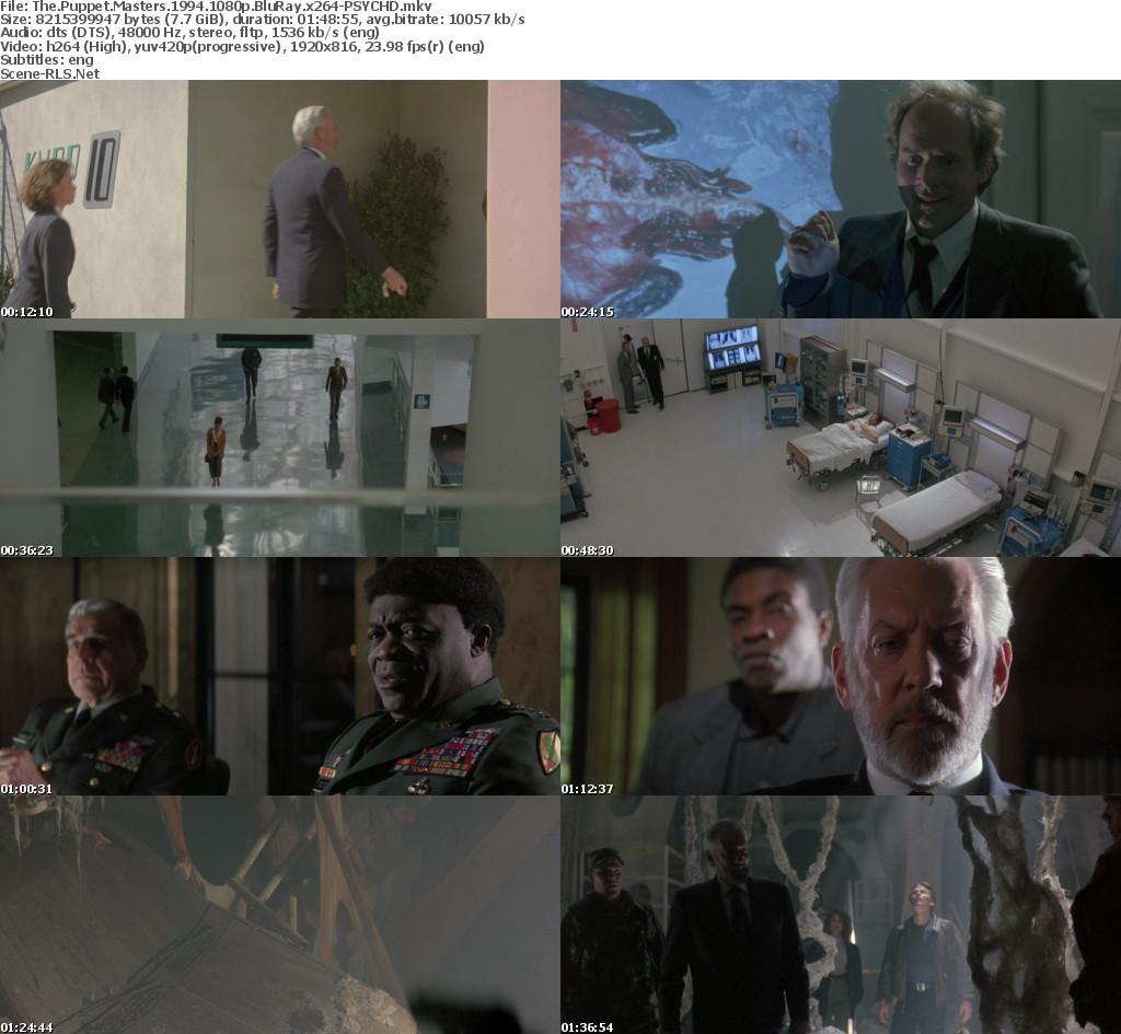 The Puppet Masters 1994 1080p Bluray X264 Psychd Scene Release