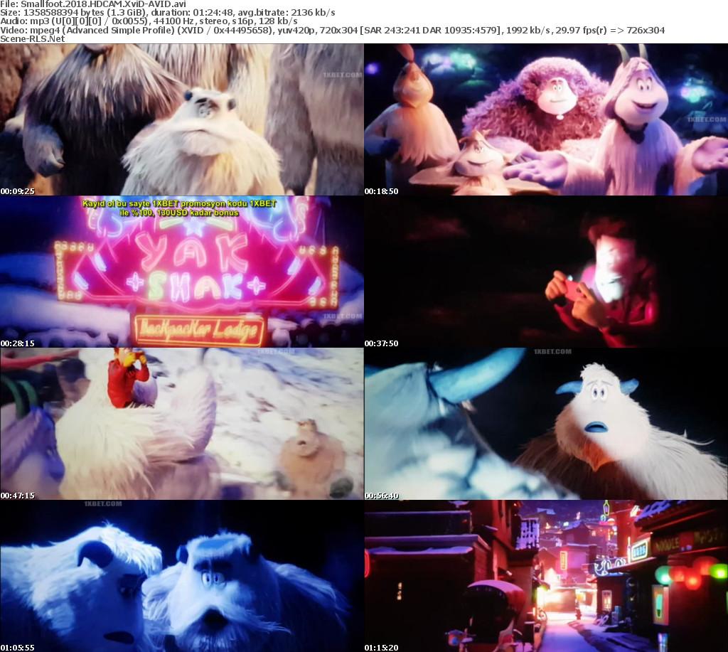 Smallfoot (2018) Full Movie Download English HD-CAM 720p 2.5GB