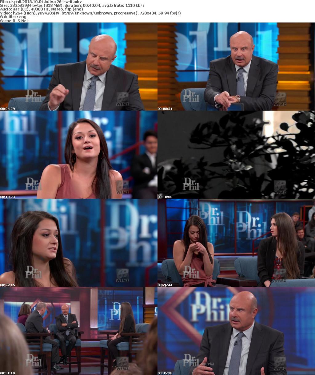 Dr Phil 2018 10 04 HDTV x264-W4F - Scene Release