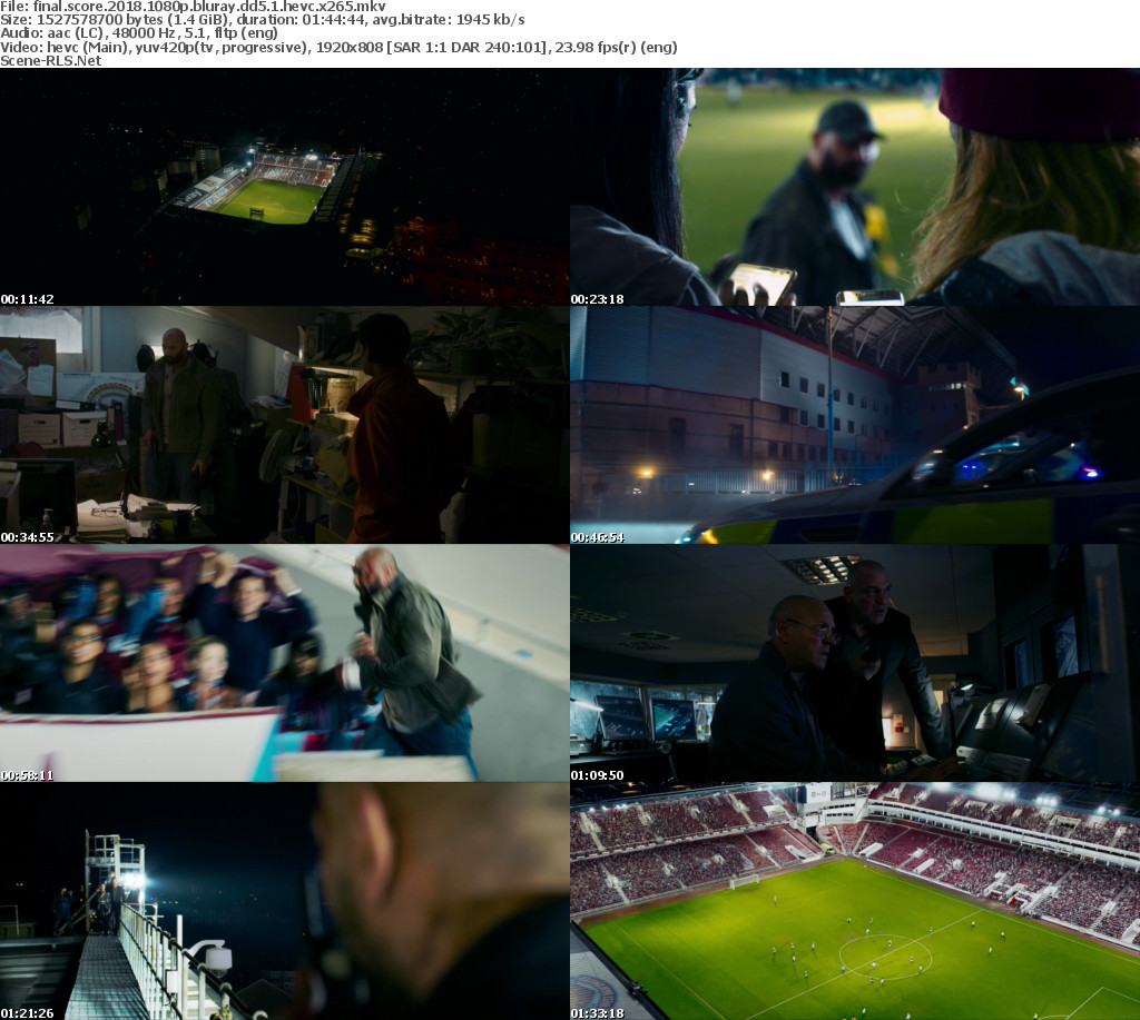 Download Final Score (2018) -Quality of BluRay 720p - 480p