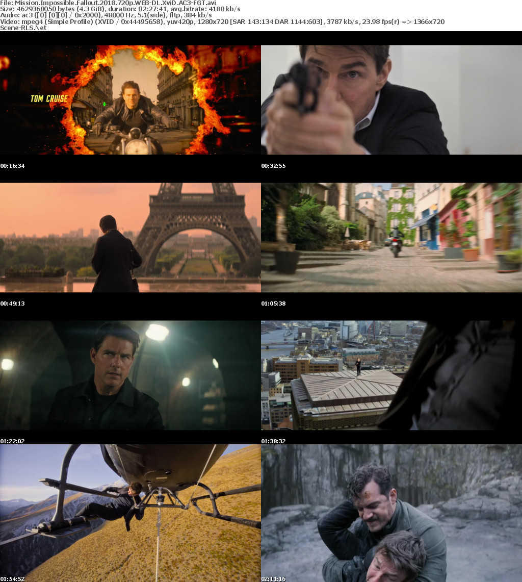 Mission Impossible-Fallout 2018 720p WEB-DL XviD AC3-FGT - Scene Release