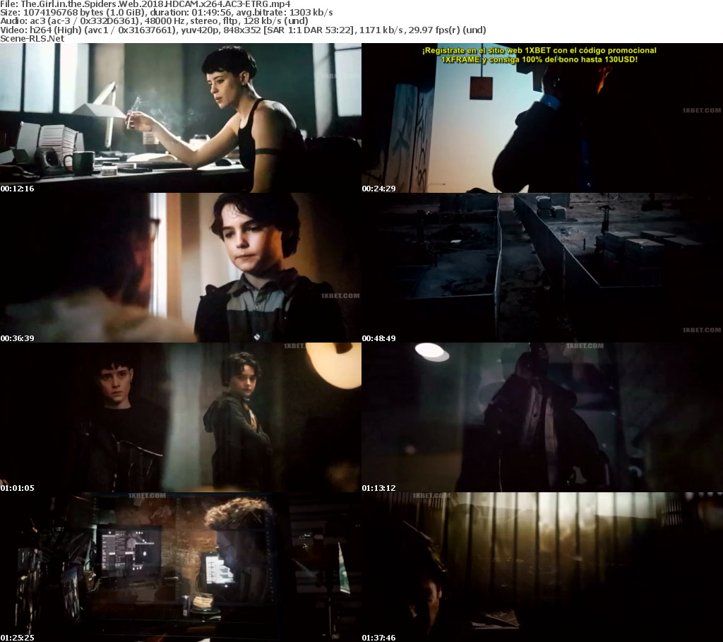 The Girl in the Spider's Web (2018) Hindi Dual Audio HD-CAM Full Movie [हिंदी + Eng] 480p 720p 1080p