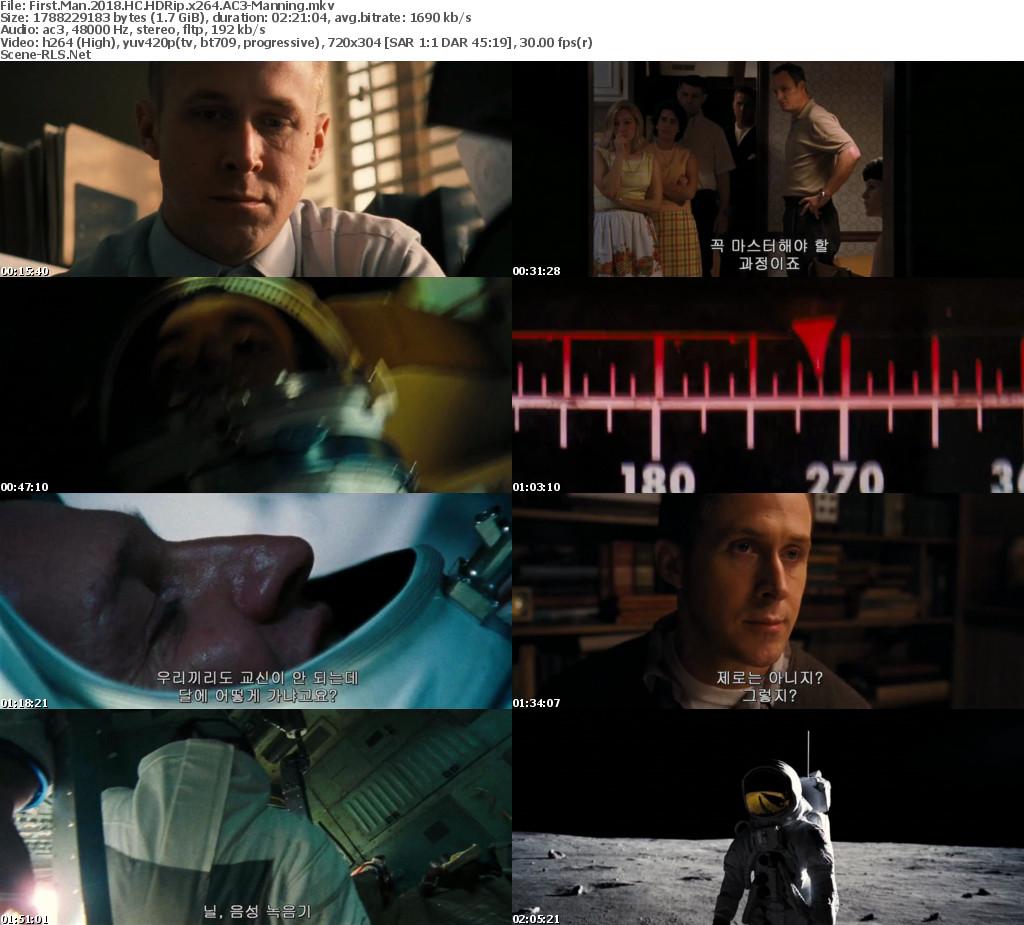 First Man (2018) English HDRip Full Movie Download 480p 720p 1080p