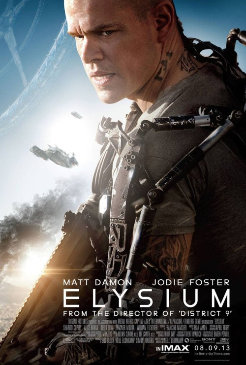 Elysium 2013 Hindi Dual Audio BRRip 480p 720p [हिंदी + Eng] x264 Full Movie