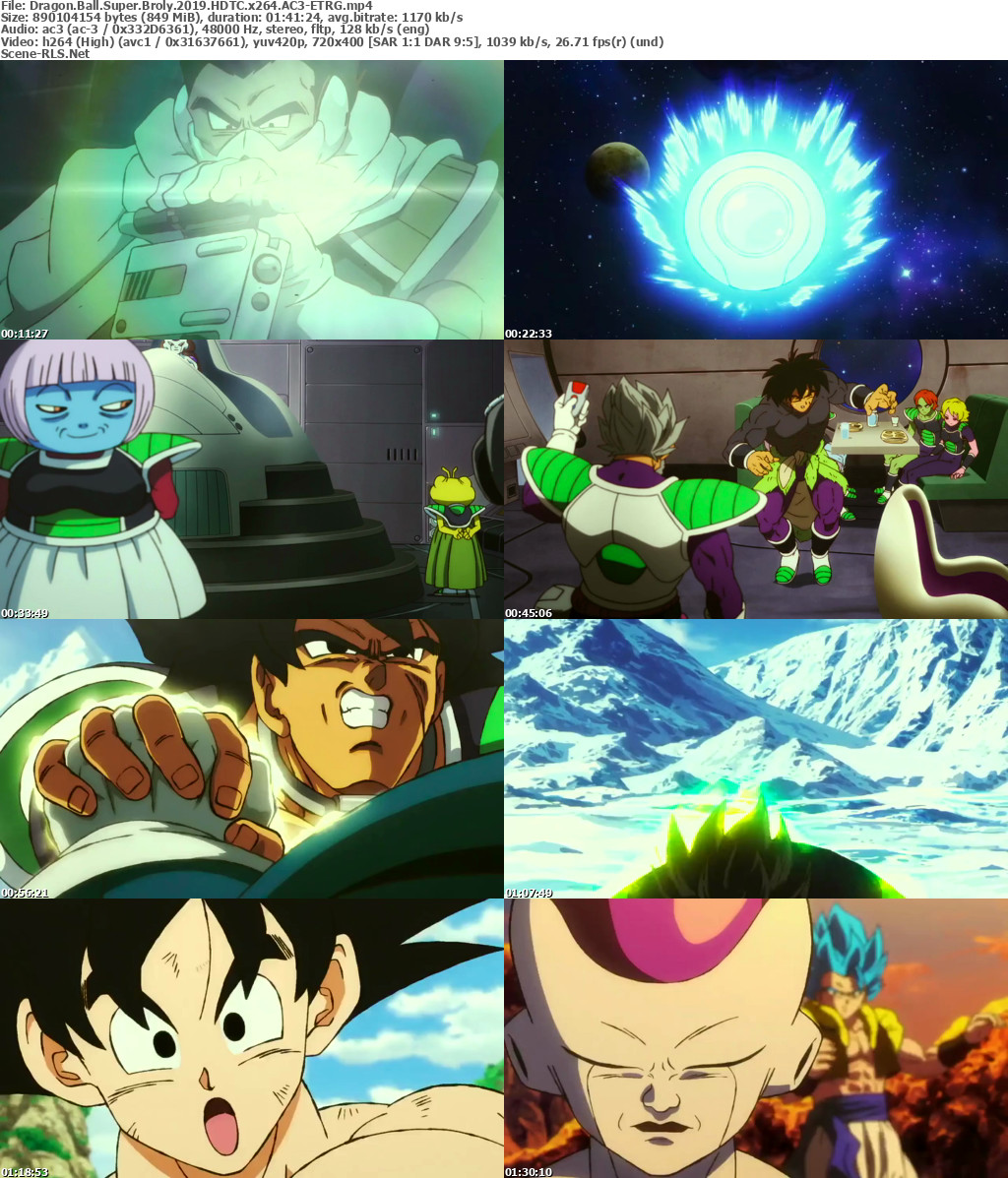 Dragon Ball Broly Full Movie: Dragon Ball Super: Broly (2018) HDRip Full Dual Audio