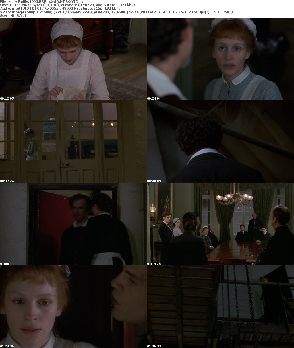 Mary Reilly 1996 BRRip XviD MP3-XVID - Scene Release