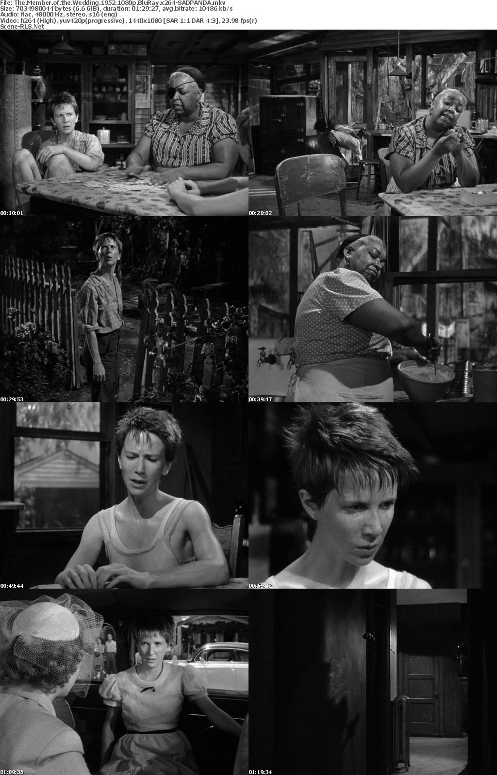 The Member of the Wedding 1952 1080p BluRay x264-SADPANDA