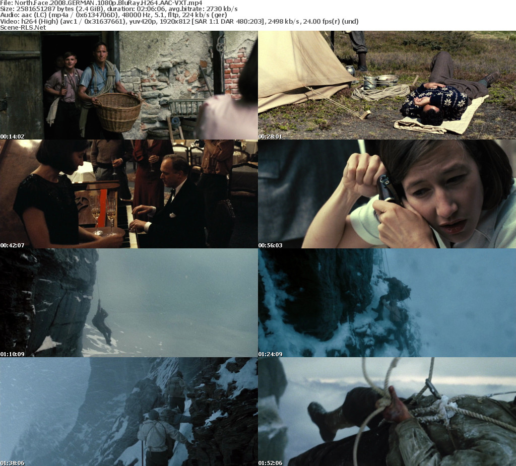 North Face 2008 GERMAN 1080p BluRay H264 AAC-VXT - Scene Release