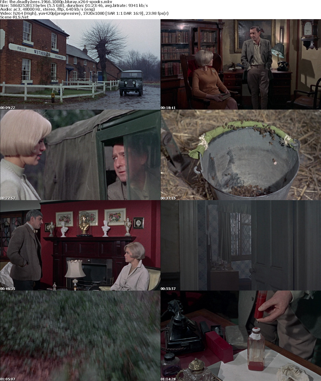 The Deadly Bees 1966 1080p BluRay x264-SPOOKS - Scene Release