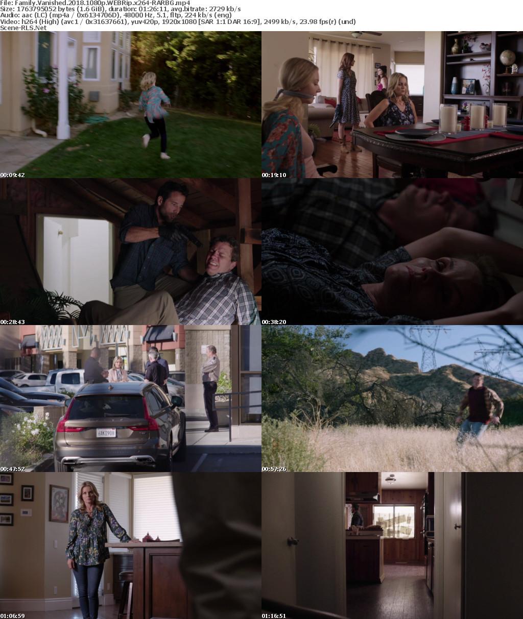 Family Vanished 2018 1080p WEBRip x264-RARBG - Scene Release
