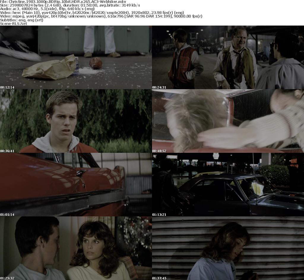 Christine 1983 1080p BDRip 10bit HDR x265 AC3-Webhiker - Scene Release