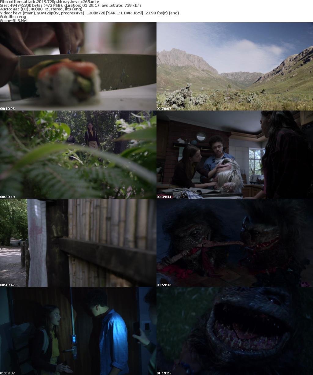 Critters Attack 2019 720p BluRay HEVC x265 - Scene Release