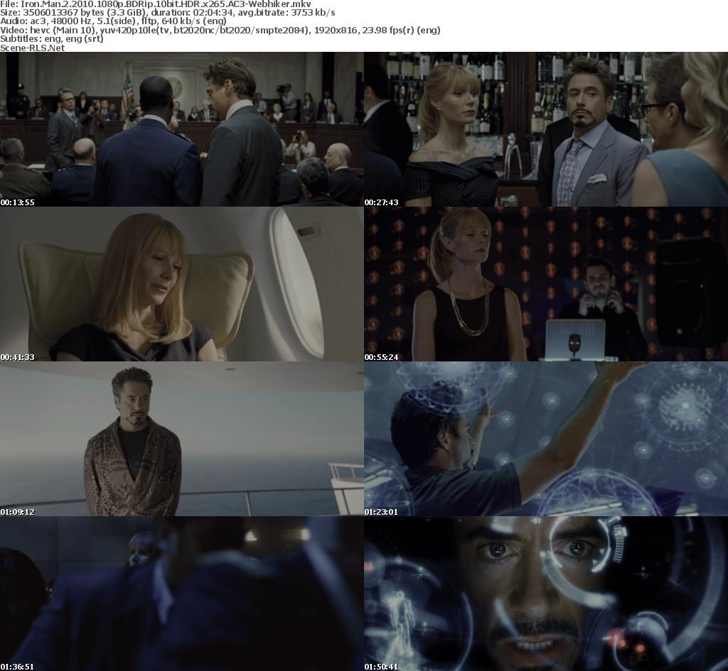 Iron Man 2 2010 1080p BDRip 10bit HDR x265 AC3-Webhiker