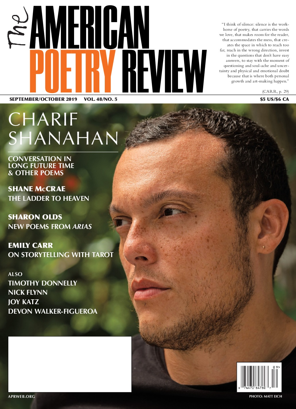 The American Poetry Review September October 2019 - Scene